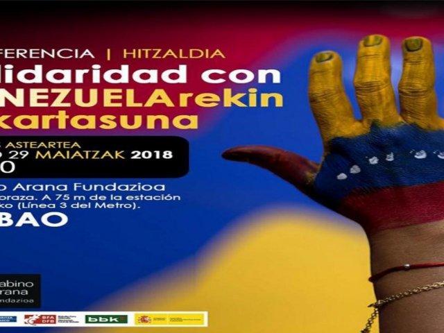 Conferencia Solidaridad con Venezuela