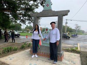 Fairuth Ortega Alcaldesa de San Joaquín y Odón Ulibarrena coordinador del proyecto La Ruta de los Vascos en Venezuela