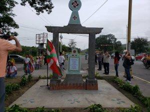 Monolito en honor a los fundadores de San Joaquín y a la creadora de la receta de las panelas