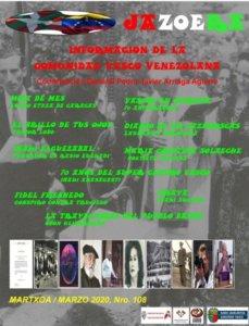Jazoera Nº 108, marzo 2020